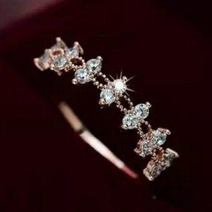 NEW 18K Rose Gold Double Round Diamond Ring
